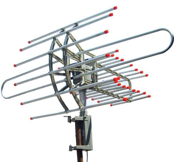 HDTV Outdoor Amplified Antenna HD TV Rotor Remote 360 UHF VHF FM 150 Miles L