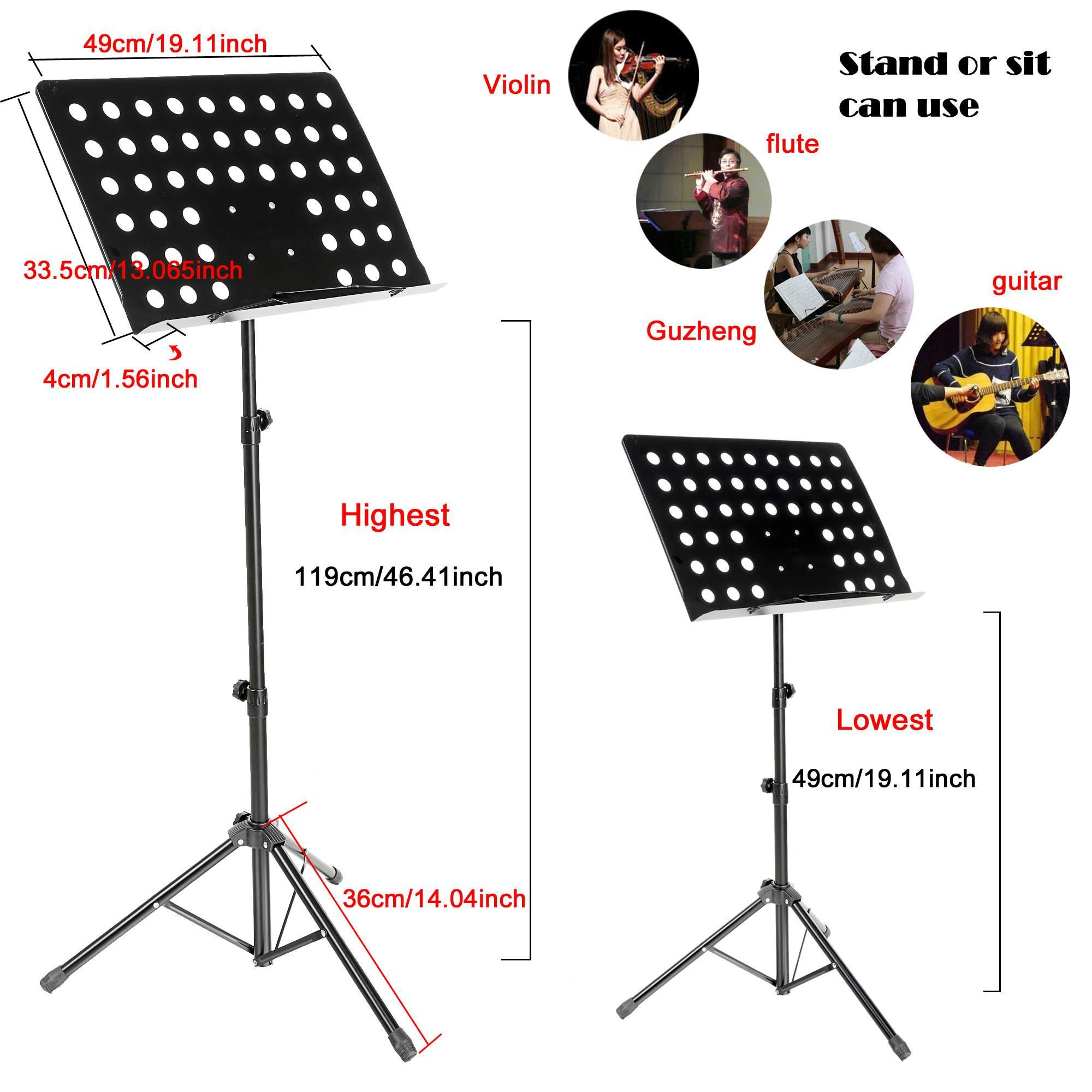 Folding Adult Adjustable Music Stand Conductor Sheets ...