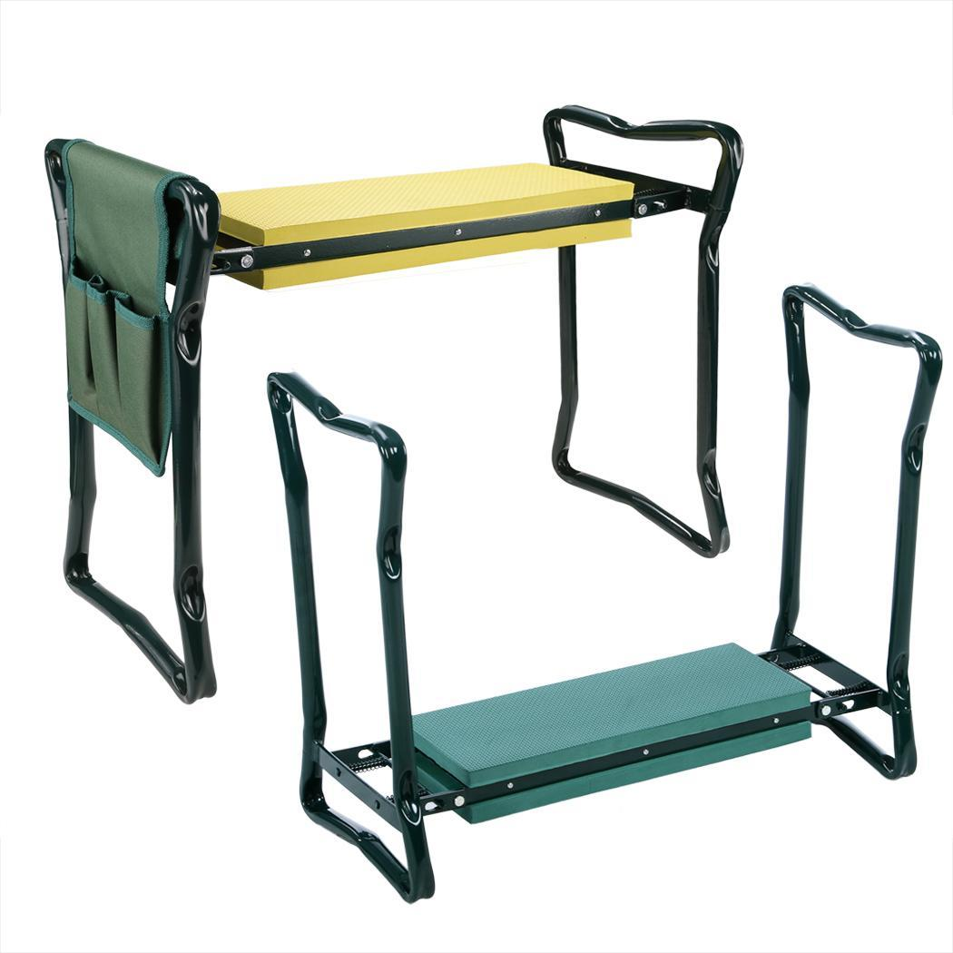 Folding chair gardening kneeler kneeling knee pad seat for Gardening kneeling stool